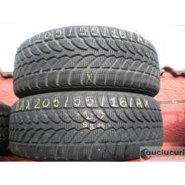 Cauciucuri 205/55/16 Bridgestone pentru iarna 2 bucati semi-noi